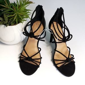 New In Box A New Day Strappy Heels 7 1/2 Black